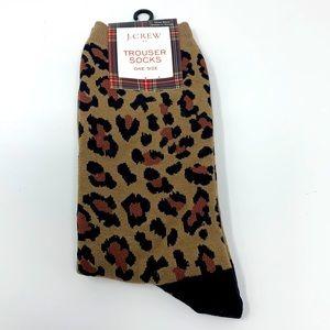 J. Crew Leopard Print Trouser Socks NWT
